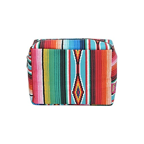 (N. Gil Large Travel Cosmetic Pouch Bag 3 (Serape Black) )