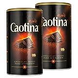 Caotina noir, Cocoa Powder with Dark Swiss Chocolate, Hot Chocolate, 2 Pack, 2 x 500g