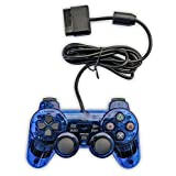Bowink Wired Gaming Controller for Ps2 Double Shock (Blue)
