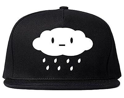Cute Face Rain Cloud Snapback Hat Cap