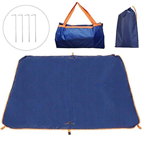 JIFAR Portable Picnic Blanket, Outdoor Beach Blanket Dual Layers Waterproof,Multifunctional Foldable Travel Bag,Camping Mat,Sleeping Pads,Mat & Tote 2 in 1(58'' L x 58'' W) by JIFAR