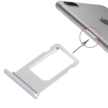Wortek Sim Karten Halter Für Iphone 7 Plus Karten Adapter Slot Silber