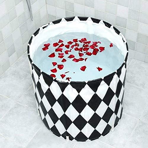 Kk ポータブル折り畳み式のバスタブ、セパレートファミリーバスルームSPA浴槽、シャワーストール、温度の効率的な維持管理のために立ちバスタブを浸し、サイズ70x70センチメートル - インフレータブルバスタブ