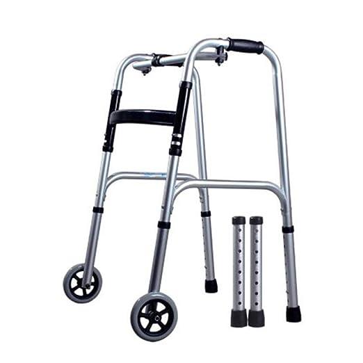 DOPORA Andador Plegable de Aluminio Ligero con 2 Ruedas y ...