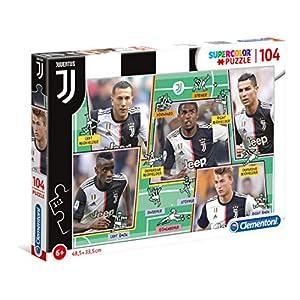 Clementoni 27131 Supercolor Puzzle Juventus 2020 104 Pezzi Made In Italy Puzzle Bambini 6 Anni Puzzle Calcio