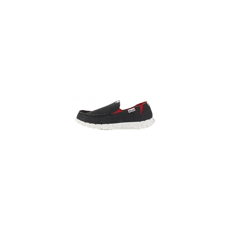 Dude Shoes Men's Farty Funk Black Red Slip On / Mule