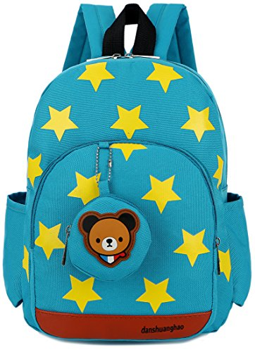 Kid Backpack with Strap Baby Bookbag Personalized Little Boys Preschool Dag Bear