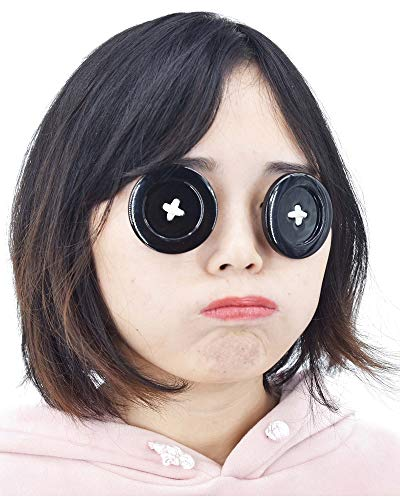 C-ZOFEK Coraline Cosplay Props Button Eyewear for Other Mother Cosplay (2 Inch) Black - http://coolthings.us