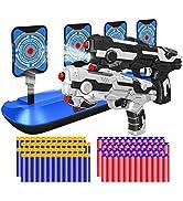 2 Pack Blaster Toy Guns Darts Gun Boys amp; Electric Shooting Target, Boy Toy Guns with 80 Pcs Soft ...