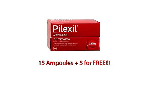 Amazon.com : PILEXIL 20 AMPOULES AMPOLLAS HAIR LOSS ANTIQUEDA ANTI CAIDA : Beauty