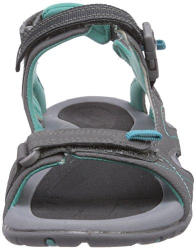 Hi-Tec INDRA STRAP - Sandalias deportivas de material sintético para mujer gris - Grau (052 GRAPHITE/LIGHT GREY/AQUA)