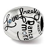 Best Designer Jewelry Sterling Silver Reflections Swarovski Crystal Live Laugh Love Talking Bead