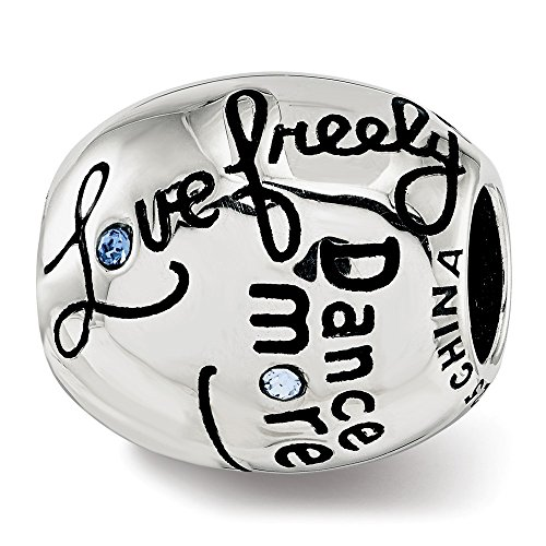 Best Designer Jewelry Sterling Silver Reflections Swarovski Crystal Live Laugh Love Talking Bead by Jewelry Brothers Gifts