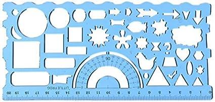 eDealMax Estudiante Forma de rectángulo gobernantes papelería plantilla de dibujo, 2 Piezas (a15091100ux0004)