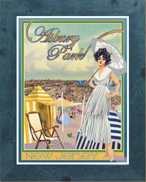 Amazon com : Asbury Park, NJ-Framed, Art-Deco Style Vintage