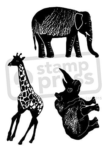 A7 'African Animals' Unmounted Rubber Stamp (SP00003327)