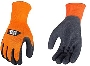 Black and Decker BD540XL Textured Rubber Coated Gripper Work Gloves, X-Large