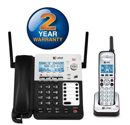 80-7959-00 4-Line Corded/Cordless Small Business System W/Extendable Range & Push-To-Talk Intercom - Model#: sb67138