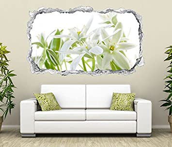 3d Wandtattoo Durchbruch Weisse Lilien Blumen Blume Wand Aufkleber