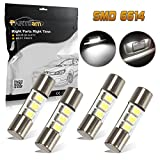 2002 nissan frontier mirrors - Partsam 4pcs White 23mm Festoon LED Bulbs for Car Truck Interior Sun Visor Vanity Mirror Lights Lamps for Nissan/Infiniti etc.