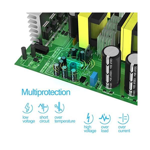 EDECOA Spannungswandler 2000W Modifizierte Sinus Wechselrichter 12V 230V 2x USB und Fernbedienung wechselrichter…