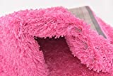 Unique Loom Solo Solid Shag Collection Modern Plush Taffy Pink Runner Rug