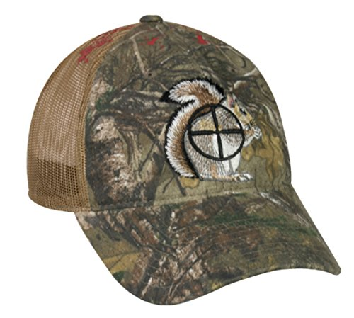 Squirrel Target Cross-Hair with Blood Splatter Mesh Hunting Hat by Outdoor Cap