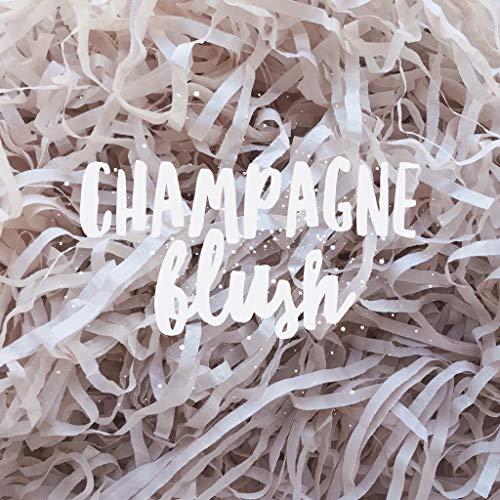 Champagne Blush Shredded Tissue Paper Shred Neutral Hamper Gift Box Basket Filler Fill Premium Quality ()
