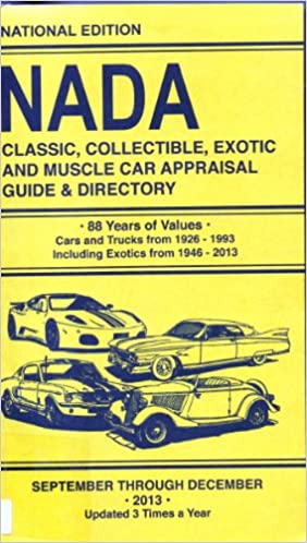 Nada Classic Cars >> Nada Classic Collectible Exotic And Muscle Car Appraisal Guide