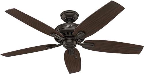Hunter Fan Company 53320 Newsome Ceiling Fan, 52 Large, Premier Bronze, Excludes Lights