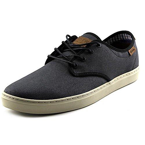 Vans Mens Ludlow Lage Top Veterschoenen Met Contrasterende Sneakers (premium Wax Canvas) Zwart