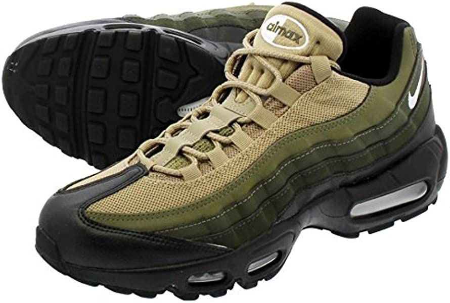 brand new be6ba f0253  ナイキ  NIKE AIR MAX 95 ESSENTIAL BLACK WHITE SEQUOIA CARGO KHAKI   国内未発売モデル  26.0cm~29.0cm   並行輸入品