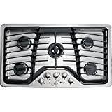 "GE PGP986SETSS Profile 36"" Stainless Steel Gas Sealed Burner Cooktop"