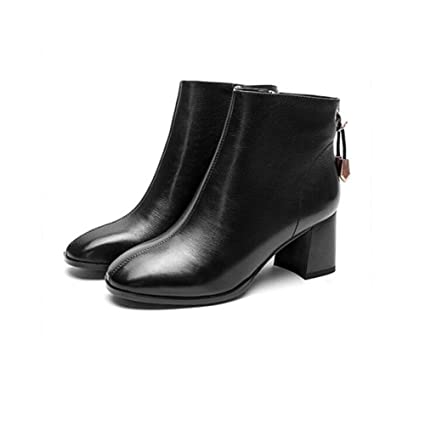 df4207e824f9a Amazon.com: YaXuan Women's Shoes, Simple Leather Ankle Boots, Autumn ...