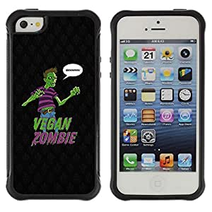 Hybrid Anti-Shock Defend Case for Apple iPhone 4s 4s Vegan Zombie Grains