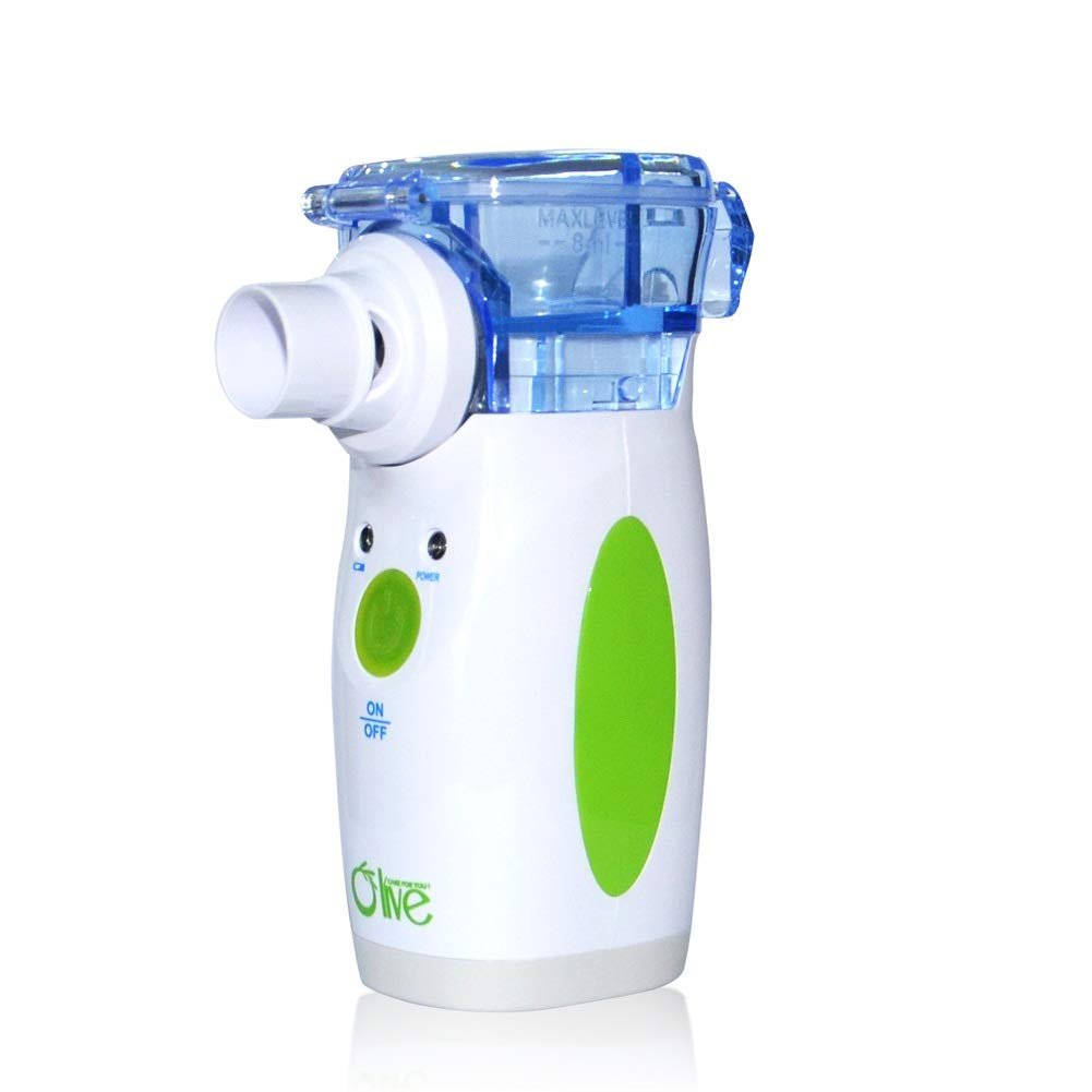 Portable Mini Cool Mist Handheld Mesh Household Treatment Machine with US Adaptor for Adults & Kids by Olive