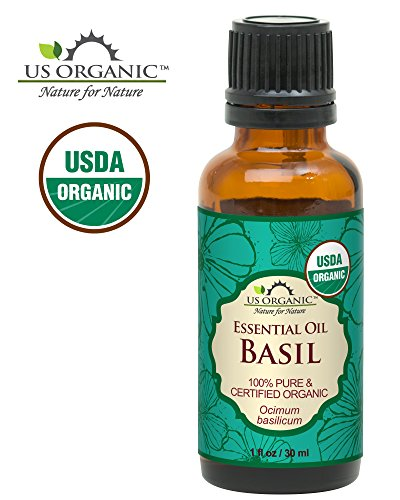 US Organic 100% Pure Basil Essential Oil - USDA Certified Organic, Steam Distilled W/ Euro droppers (More Size Variations Available) (30 ml / 1 fl oz)