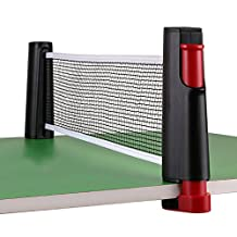 BTSKY® Portable Retractable Table Tennis Net Rack/Replacement Ping Pong Net Accessory-Come With A Handy PVC Carrying Bag (Black)