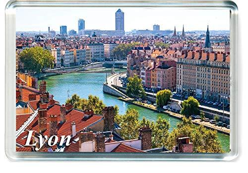 GIFTSTICY H139 Lyon Aimant pour Le Frigo France Travel Fridge Magnet