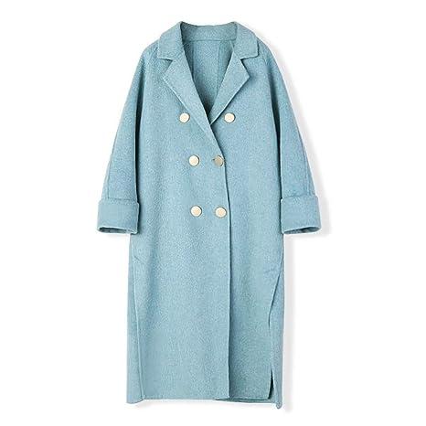 myMo Cappotto Invernale Donna Blu Abbigliamento Cappotti