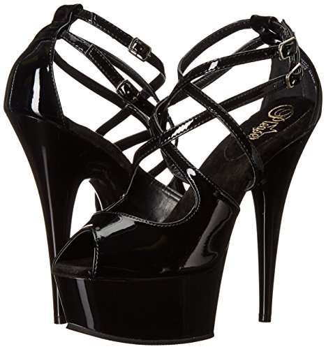 Pleaser Blk blk 612 Delight 38 Uk 5 eu xqwq7