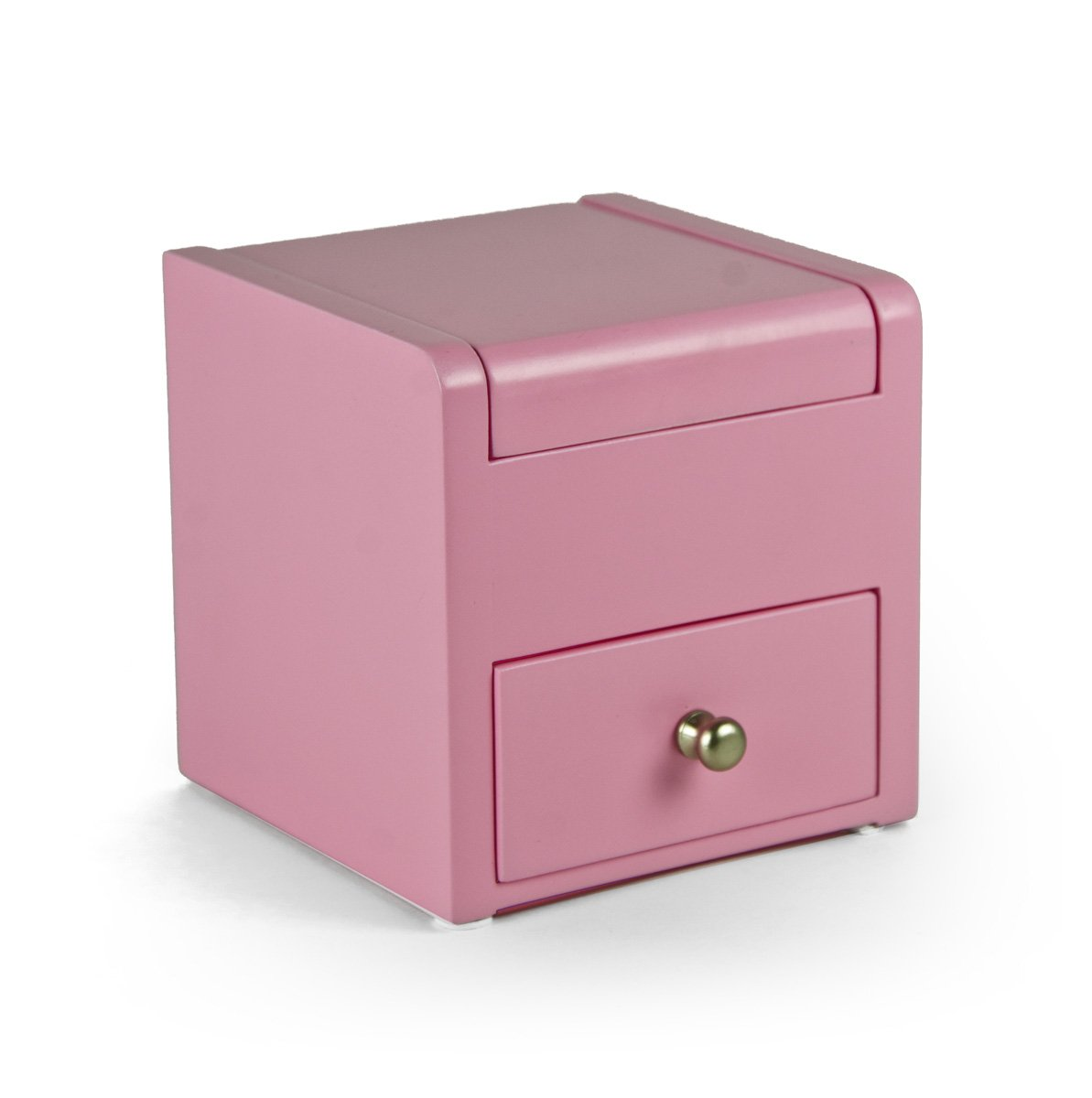 Matte Pink 18 Note Ballerina Musical Jewelry Box With Pull Out Drawer - Easy Song Selection - When I Fell in Love - SWISS (+$65)