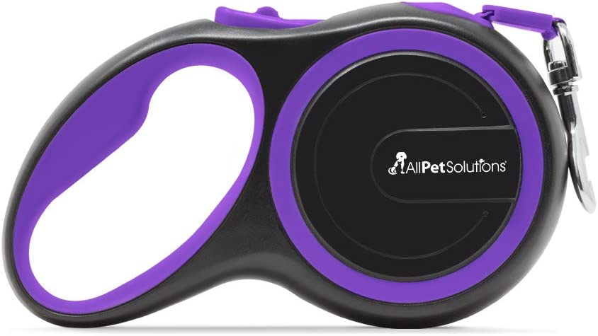 One Size Blue Doodlebone Rambler Retractable Tape Two Tone Dog Lead