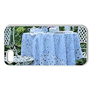 tea for two - Case Cover for iPhone 5 and 5S (Watercolor style, White)