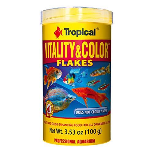 Tropical USA Vitality & Color Flakes Fish Food Tin, 100g ()