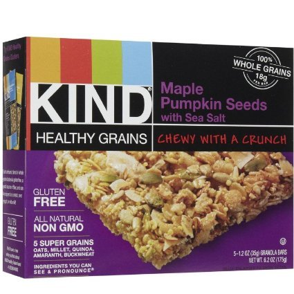 KIND, Healthy Grains Granola Bars, Maple Pumpkin Seed with Sea Salt, 5 count box (Pack of 4) by KIND