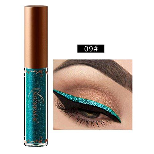 iner - Beauty Metallic Shiny Smoky Eyes Eyeshadow Glitter Eyeliner - long-lasting - Waterproof (I) ()