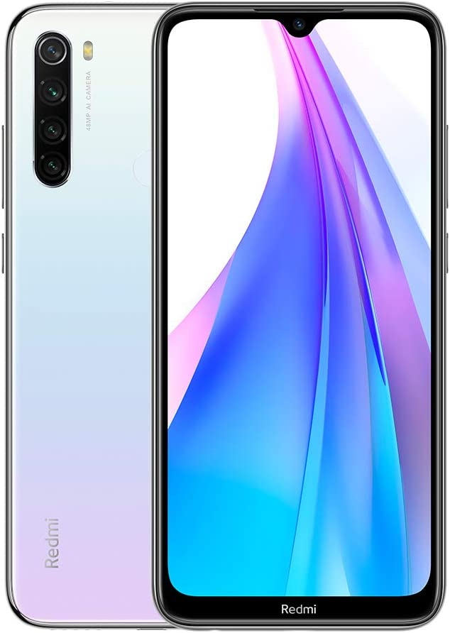"Xiaomi Redmi Note 8T Teléfono, 4GB RAM 128GB ROM Smartphone, 6.3"" Pantalla Snapdragon 665 Móvil 48MP Quad Rear Camera(NFC),Versión Global (Blanco)"