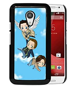 Fashionable And Unique Designed Case For Motorola Moto G 2nd Generation Phone Case With Supernatural cute cartoon Black