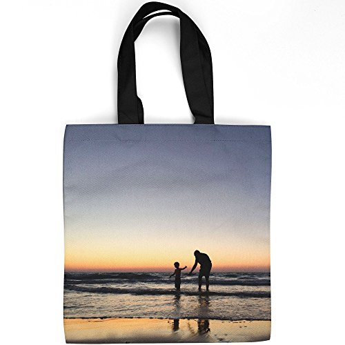 Westlake Art - Child Man - Tote Bag - Fashionable Picture Photography Shopping Travel Gym Work School - 16x16 Inch (Quorum Arts)